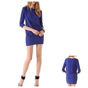 Shopbop IRO Wallis Electric Blue Draped Mini Dress